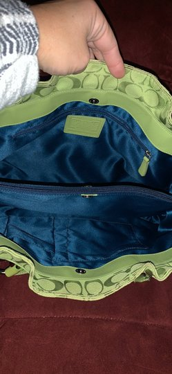 Coach Satchel in Lime Green Image 6