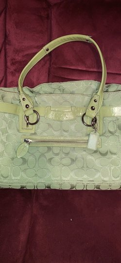 Coach Satchel in Lime Green Image 7