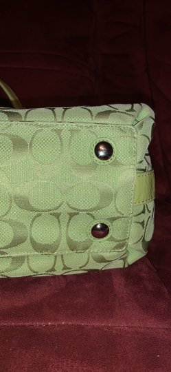 Coach Satchel in Lime Green Image 8