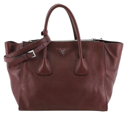 Prada Leather Tote in red Image 0