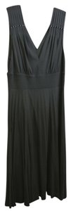 Theory Knit Pleated With Pearl Detail At The Mid Length Dress