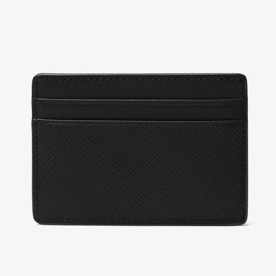 Michael Kors Black Leather Card Holder Men's Jewelry/Accessory Image 2