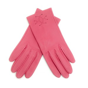 Hermès Leather Perforated Gloves