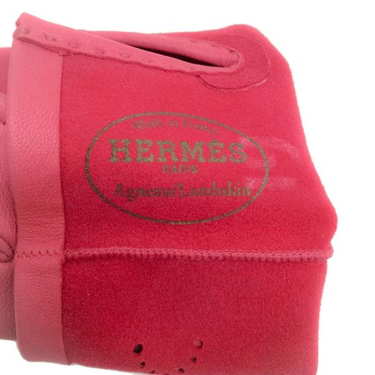 Hermès Leather Perforated Gloves Image 5