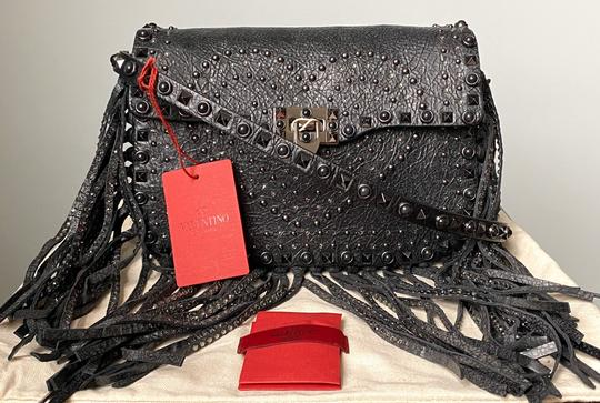 Valentino Rockstud Messenger Rockstud Guitar Rockstud Punk Heart Cross Body Bag Image 1