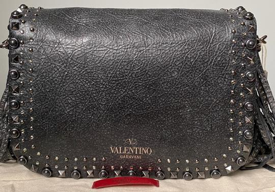 Valentino Rockstud Messenger Rockstud Guitar Rockstud Punk Heart Cross Body Bag Image 3