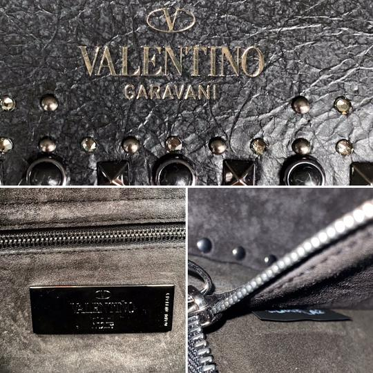 Valentino Rockstud Messenger Rockstud Guitar Rockstud Punk Heart Cross Body Bag Image 9