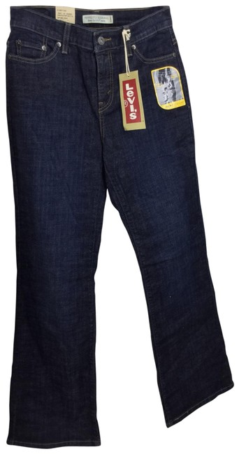 Preload https://img-static.tradesy.com/item/26649878/levi-s-blue-dark-rinse-levi-melody-perfectly-slimming-boot-cut-jeans-size-6-s-28-0-1-650-650.jpg