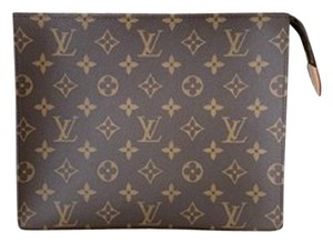 Louis Vuitton Cosmetic Bags Wrislets-pochette Wallets Lv Pouch Brown Clutch