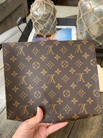 Louis Vuitton Cosmetic Bags Wrislets-pochette Wallets Lv Pouch Brown Clutch Image 3