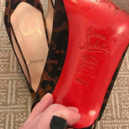 Christian Louboutin Red Soles Patent leopard, black, animal Pumps Image 9