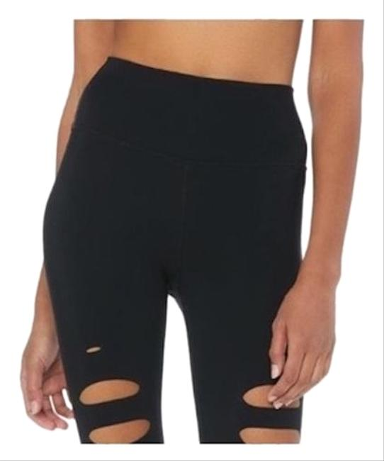 Preload https://img-static.tradesy.com/item/26649939/alo-black-high-waist-ripped-warrior-activewear-bottoms-size-4-s-27-0-1-650-650.jpg