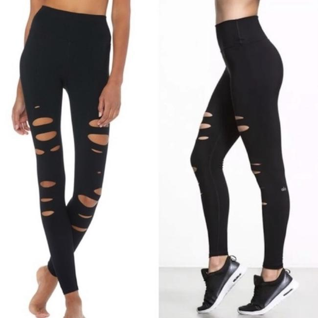 Alo HIGH-WAIST RIPPED WARRIOR LEGGING NWT Image 1