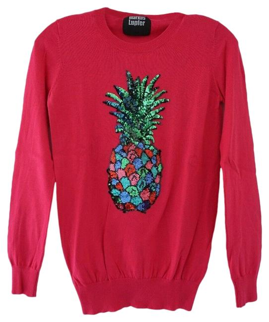 Preload https://img-static.tradesy.com/item/26650011/markus-lupfer-pineapple-long-sleeve-embellished-sequins-pink-sweater-0-1-650-650.jpg
