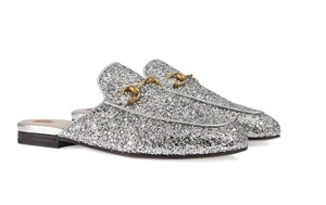 Gucci Princetown Horsebit Glitter silver Mules - item med img