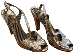 Moschino Disco Platform Vintage silver, metallic Pumps