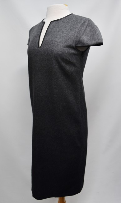 Burberry Wool Ombre Leather Trim Dress Image 1