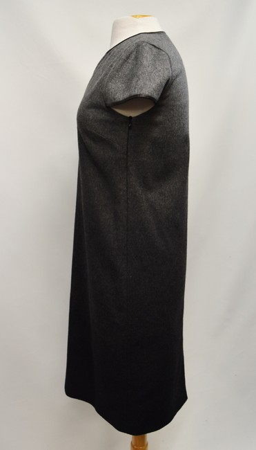 Burberry Wool Ombre Leather Trim Dress Image 2