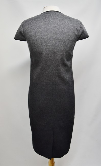 Burberry Wool Ombre Leather Trim Dress Image 3