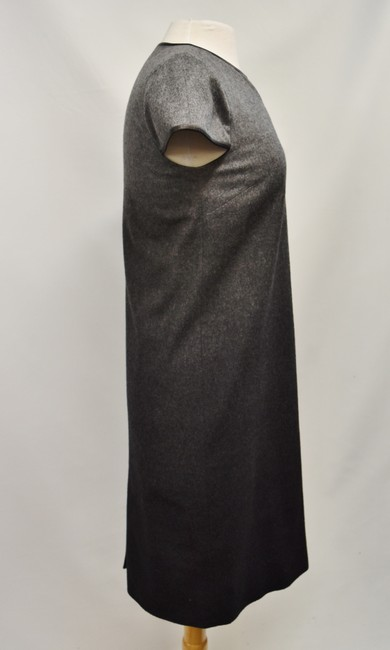 Burberry Wool Ombre Leather Trim Dress Image 4