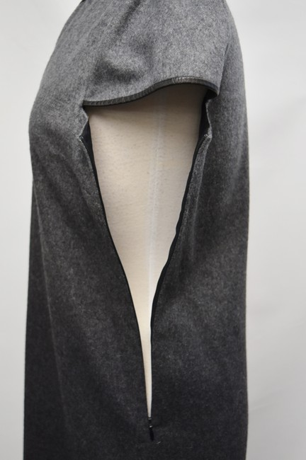 Burberry Wool Ombre Leather Trim Dress Image 5