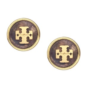 Tory Burch Tory Burch Semiprecious Logo Stone Earrings
