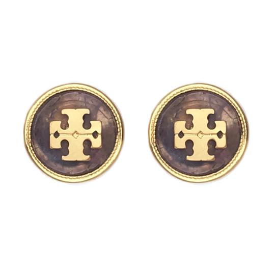 Tory Burch Tory Burch Semiprecious Logo Stone Earrings Image 1