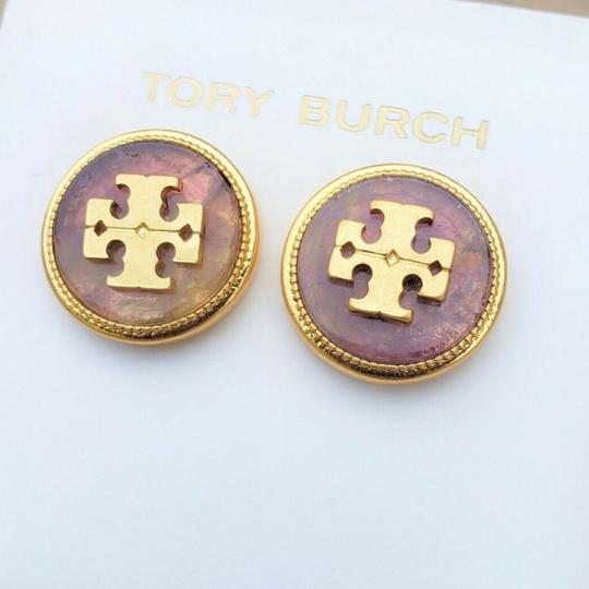 Tory Burch Tory Burch Semiprecious Logo Stone Earrings Image 2