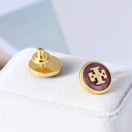 Tory Burch Tory Burch Semiprecious Logo Stone Earrings Image 3