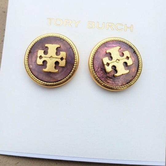 Tory Burch Tory Burch Semiprecious Logo Stone Earrings Image 5
