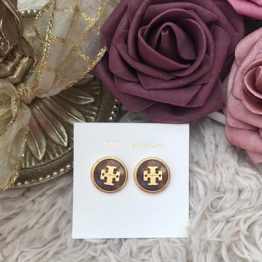 Tory Burch Tory Burch Semiprecious Logo Stone Earrings Image 6