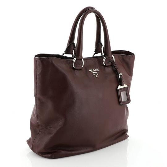 Prada Leather Tote in red Image 1