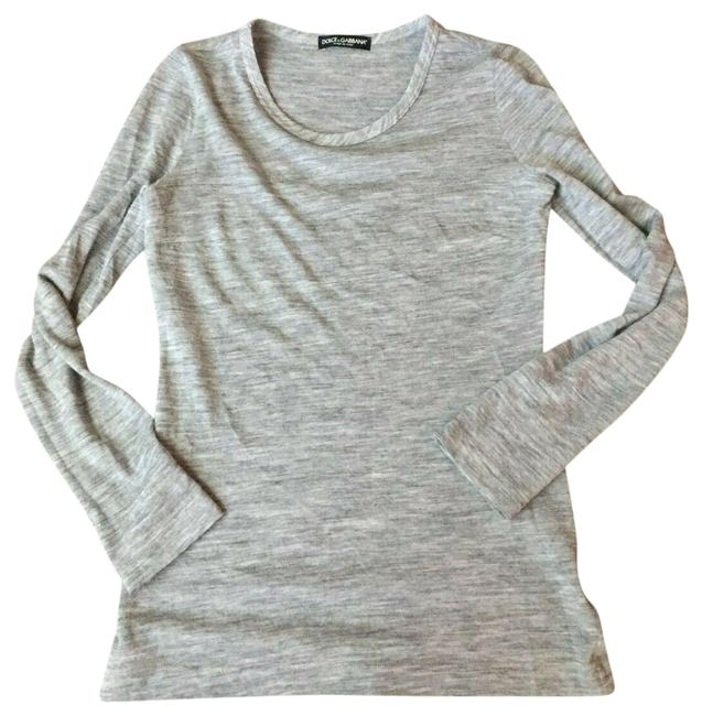 Preload https://img-static.tradesy.com/item/26650061/dolce-and-gabbana-gray-pullover-blouse-size-4-s-0-2-650-650.jpg