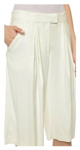 Veronica Beard Culottes Gauchos Capri/Cropped Pants Cream