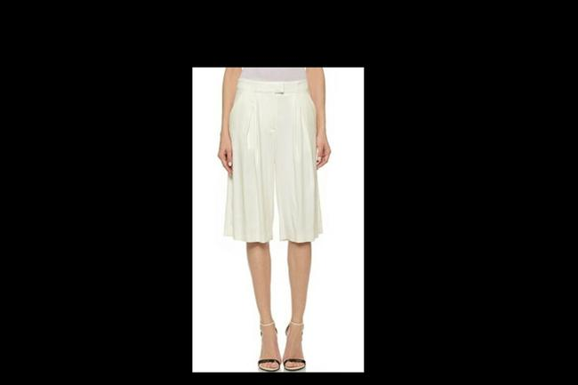 Veronica Beard Culottes Gauchos Capri/Cropped Pants Cream Image 1