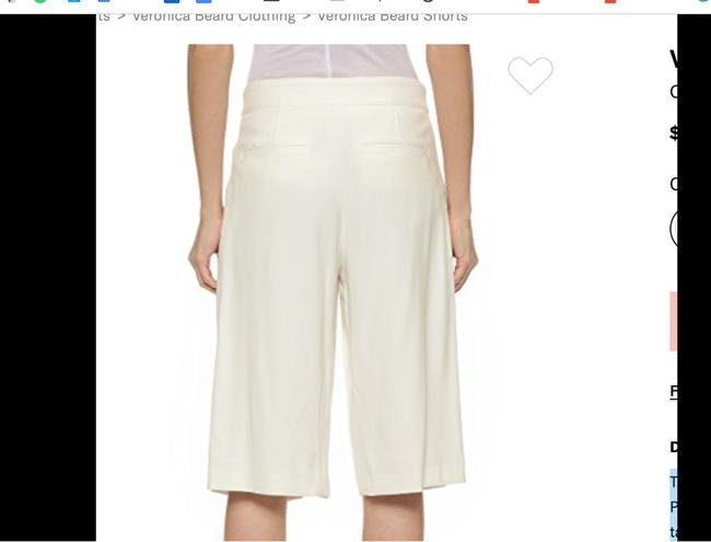 Veronica Beard Culottes Gauchos Capri/Cropped Pants Cream Image 2