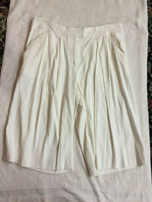 Veronica Beard Culottes Gauchos Capri/Cropped Pants Cream Image 3