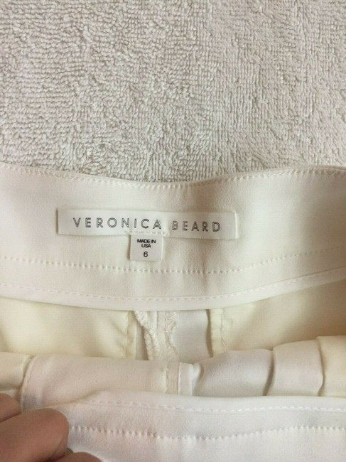 Veronica Beard Culottes Gauchos Capri/Cropped Pants Cream Image 5