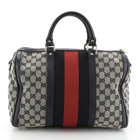 Gucci Canvas Satchel in blue and brown Image 2
