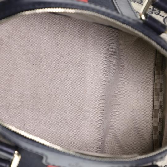 Gucci Canvas Satchel in blue and brown Image 4