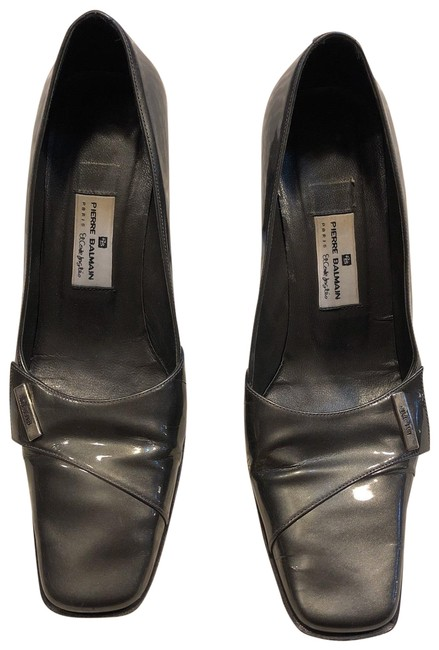 Item - Olive Green Vintage Women's Leather Patent Pumps Size EU 38 (Approx. US 8) Narrow (Aa, N)