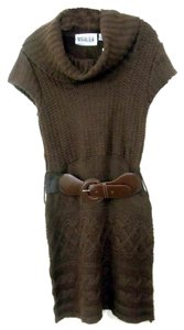 Ashley By 26 International short dress Brown Belted Sweater on Tradesy