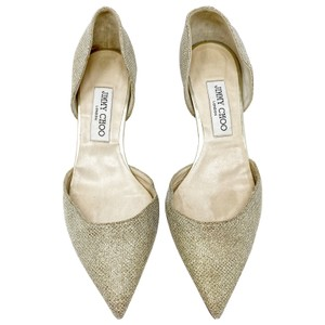 Jimmy Choo gold Pumps