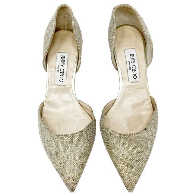 Item - Gold Addison D'orsay Glitter Lame Pointed Pumps Size US 9 Regular (M, B)