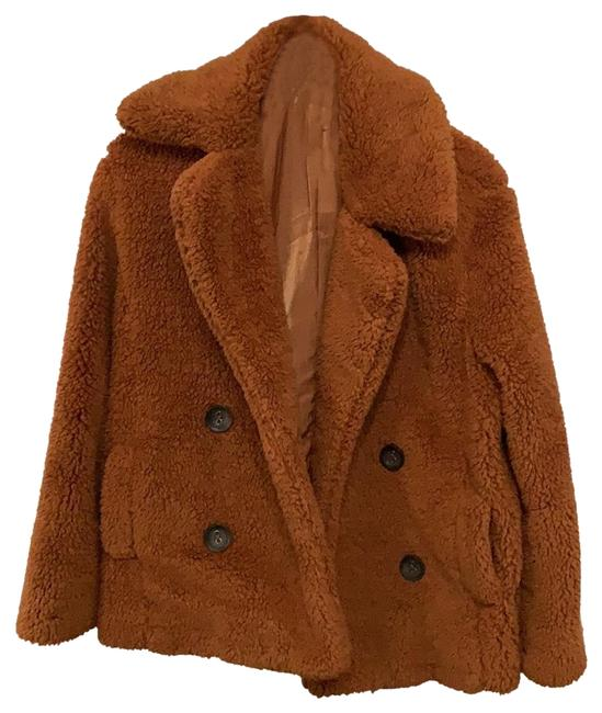 Item - Burnt Orange/ Rust Faux Double Breasted Coat Size 4 (S)