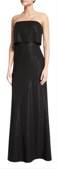 Item - Black Heritage Strapless Popover Beaded Column Gown Long Cocktail Dress Size 2 (XS)
