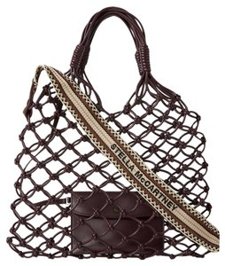 Stella McCartney Falabella Knotted Tote in Burgundy