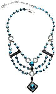 Givenchy Crystal Neo Deco Bib Necklace