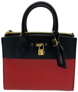 Louis Vuitton Satchel in Red and Black