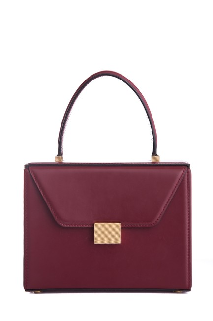 Item - Handle Wine Leather Tote